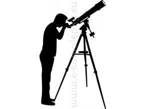 Samolepka - Astronom