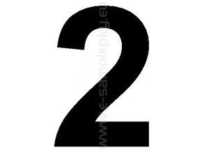 Samolepící číslice 2