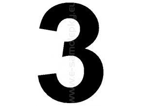 Samolepící číslice 3