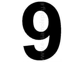 Samolepící číslice 9