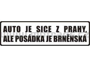 Samolepka Auto je z Prahy