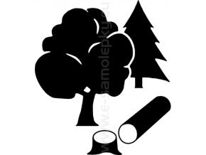 Samolepka - Dřevorubec 02