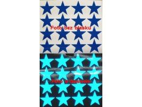 Reflexní samolepka: Hvězdy 16 ks- Modré