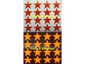 Reflexní samolepka: Hvězdy 16 ks- Oranžové