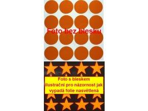Reflexní samolepka: Kolečka 16 ks- Oranžové