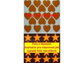 Reflexní samolepka: Srdce 18 ks- Oranžové