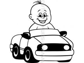 Samolepka - Dítě v autě - Kluk