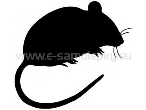 Samolepka - Myš 02