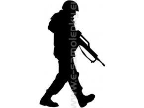 Samolepka - Voják 04