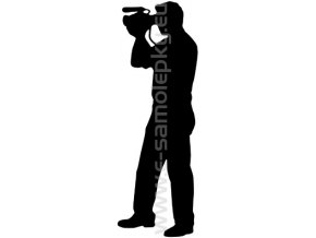 Samolepka - Kameraman