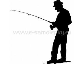 Samolepka - Rybář