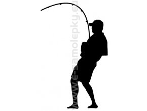 Samolepka - Rybář 02