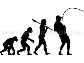 Samolepka - Rybář 02 evoluce
