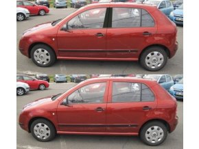 Polepy sloupků Škoda Fabia Sedan I - Černá MATNÁ