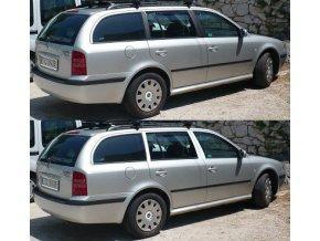 Polepy sloupků Škoda Octavia I - Combi - Černá LESKLÁ