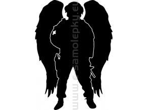 Samolepka - Voják anděl