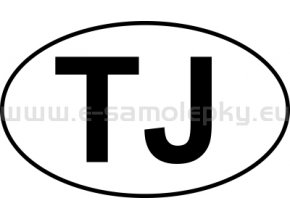 Samolepka - MPZ - Tádžikistán - TJ - BEZ BÍLÉHO PODKLADU