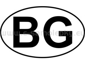 Samolepka - MPZ - Bulharsko - BG - BEZ BÍLÉHO PODKLADU
