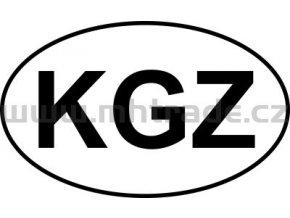Samolepka Mpz KGZ Kyrgyzstan