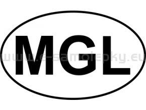 Samolepka - MPZ - Mongolsko - MGL - BEZ BÍLÉHO PODKLADU