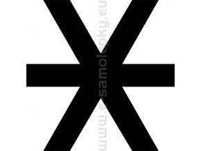 Samolepka - Kříž 03