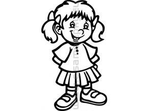 Samolepka - Dítě v autě - Holka 11