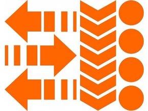 Reflexní tvary - oranžové
