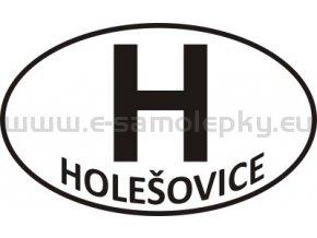 Samolepka - PZ - Holešovice - H