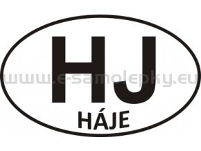 Samolepka - PZ - Háje - HJ