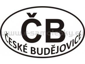 Samolepka - PZ - České Budějovice - ČB