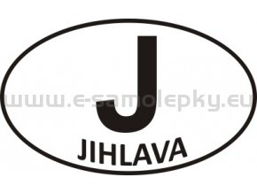 Samolepka - PZ - Jihlava - J