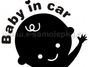 Samolepka - Dítě v autě 08