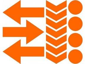 Reflexní tvary 02 - oranžové