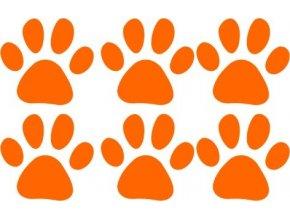 Reflexní tlapky - sada - oranžová