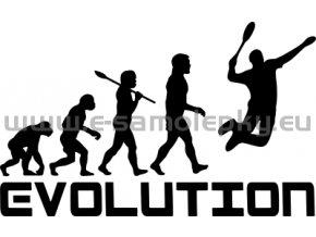 Samolepka - Badminton evoluce