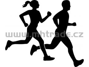 Samolepka - Běžci