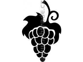 Samolepka - Hrozen vína