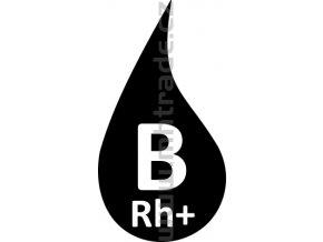 Samolepka - Krevní skupina B+