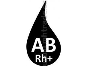 Samolepka - Krevní skupina AB+