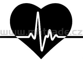 Samolepka - EKG křivka