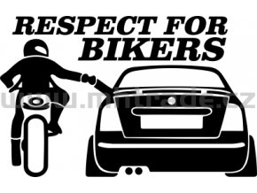 Samolepka - Respect for bikers