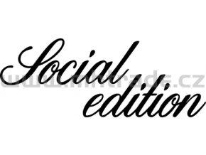 Samolepka - Social edition