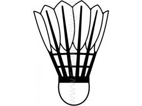 Samolepka - Badmintonový míček 02