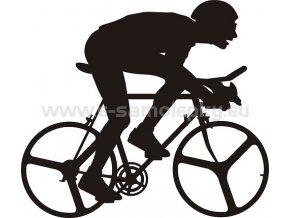 Samolepka - Cyklista