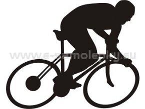 Samolepka - Cyklista 03