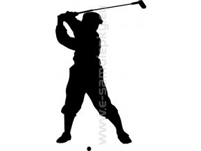 Samolepka - Golfista