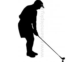 Samolepka - Golfista 02