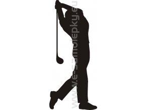 Samolepka - Golfista 04