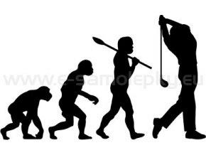 Samolepka - Golfista 04 evoluce