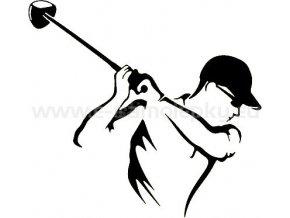 Samolepka - Golfista 05